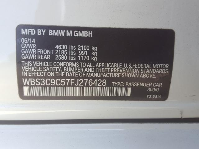 WBS3C9C57FJ276428 2015 BMW M3