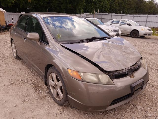 Honda Civic EXL salvage cars for sale: 2008 Honda Civic EXL