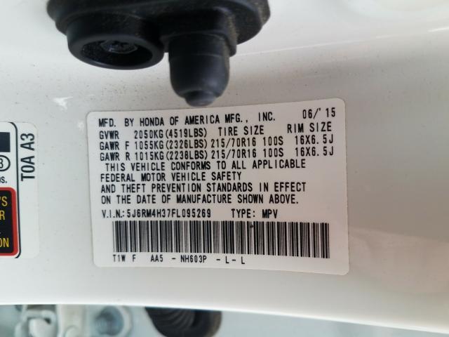 5J6RM4H37FL095269 2015 HONDA CR-V LX