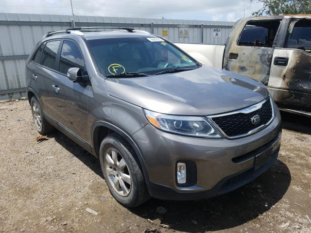 Salvage cars for sale from Copart Mercedes, TX: 2015 KIA Sorento LX