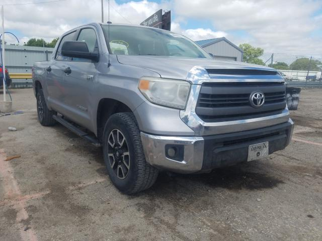 Salvage cars for sale from Copart Wichita, KS: 2014 Toyota Tundra CRE