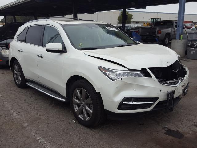 Acura MDX Advance salvage cars for sale: 2016 Acura MDX Advance