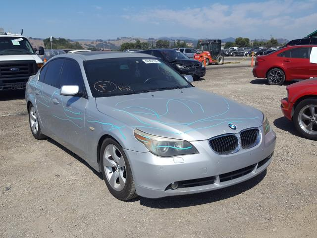 Salvage cars for sale from Copart San Martin, CA: 2005 BMW 545 I