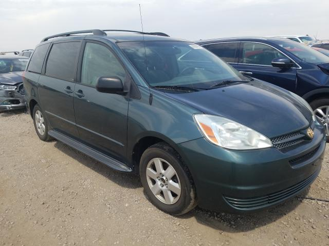 Toyota Sienna CE salvage cars for sale: 2004 Toyota Sienna CE