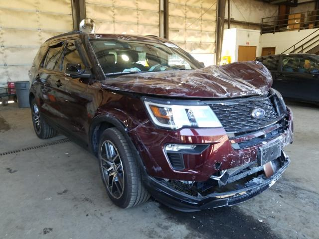 Ford Explorer S salvage cars for sale: 2018 Ford Explorer S
