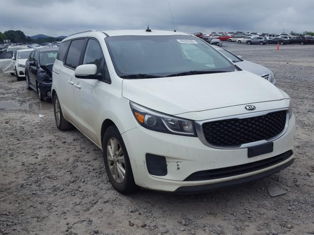 KIA Sedona LX salvage cars for sale: 2015 KIA Sedona LX
