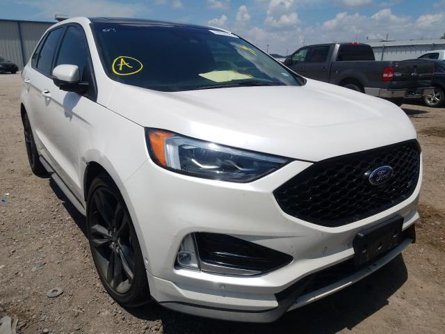 Salvage cars for sale from Copart Mercedes, TX: 2019 Ford Edge ST