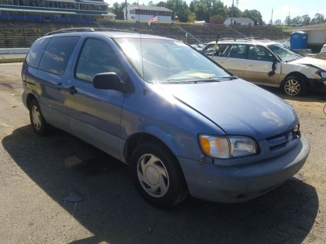 Salvage cars for sale from Copart Concord, NC: 1999 Toyota Sienna LE