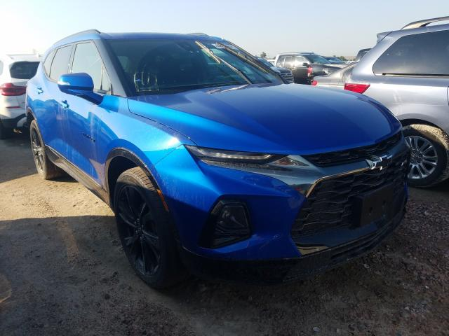 Salvage cars for sale from Copart Houston, TX: 2019 Chevrolet Blazer RS