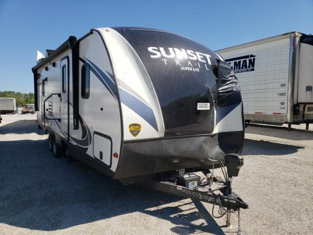 Keystone Sunset TRA salvage cars for sale: 2018 Keystone Sunset TRA