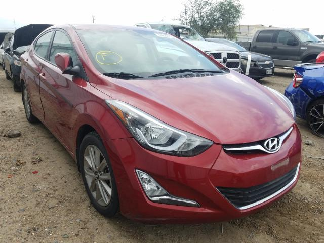 Salvage cars for sale from Copart Mercedes, TX: 2016 Hyundai Elantra SE