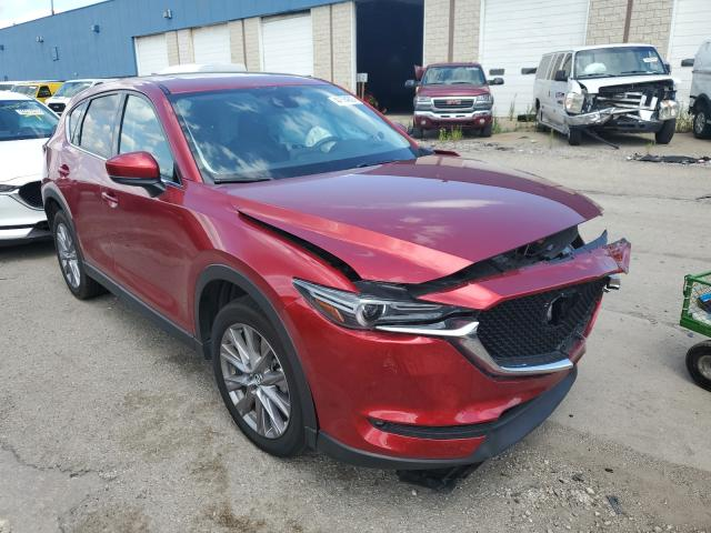 Salvage cars for sale from Copart Woodhaven, MI: 2019 Mazda CX-5 Grand Touring