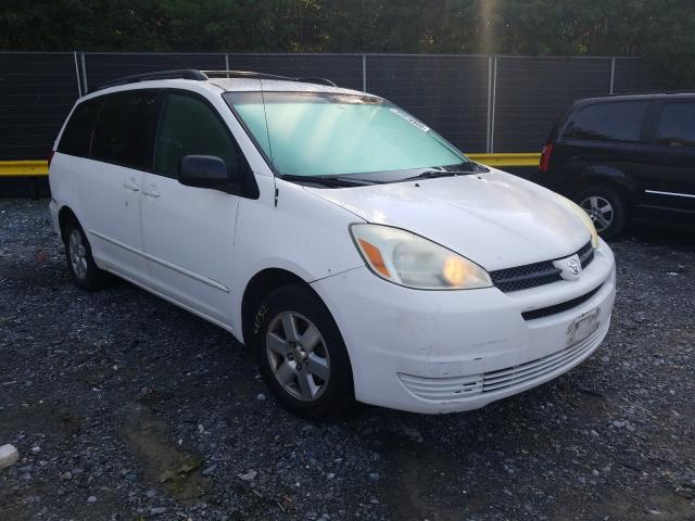 Salvage cars for sale from Copart Waldorf, MD: 2004 Toyota Sienna CE