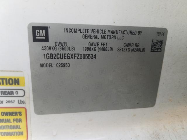 1GB2CUEGXFZ505534 2015 CHEVROLET SILVERADO C2500 HEAVY DUTY