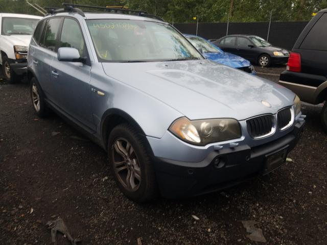 Salvage cars for sale from Copart New Britain, CT: 2003 BMW X3