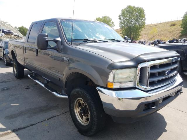 Ford F250 Super salvage cars for sale: 2002 Ford F250 Super