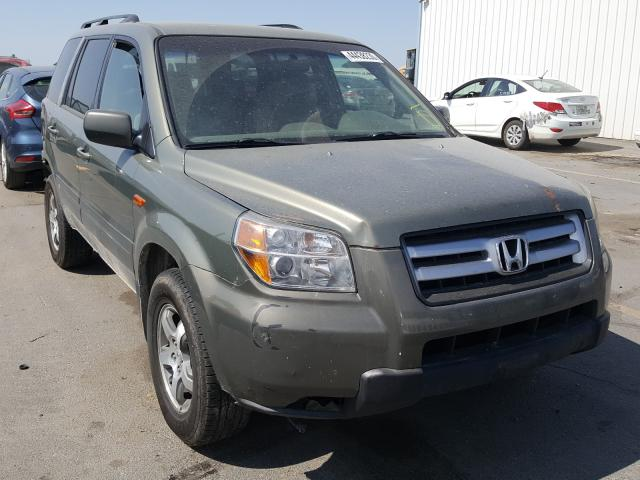 Honda Pilot EX salvage cars for sale: 2007 Honda Pilot EX