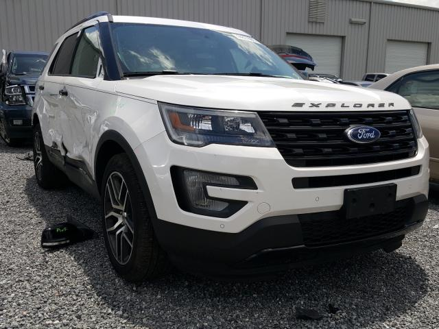 Ford Explorer S salvage cars for sale: 2017 Ford Explorer S