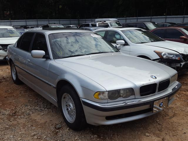 BMW 740 IL salvage cars for sale: 2001 BMW 740 IL