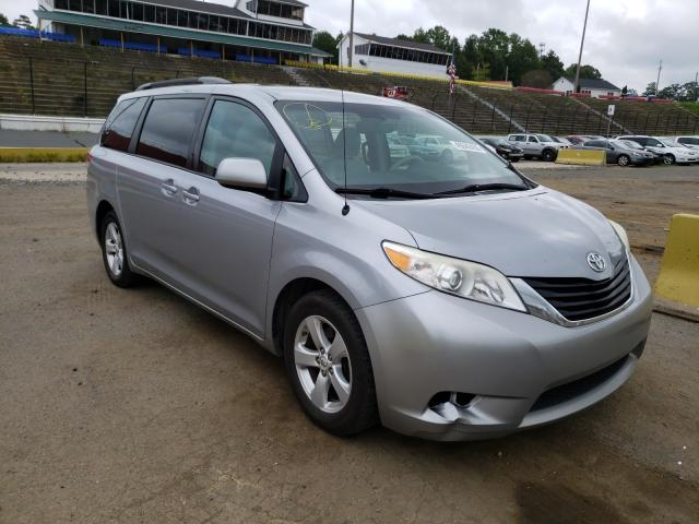 Salvage cars for sale from Copart Concord, NC: 2012 Toyota Sienna LE