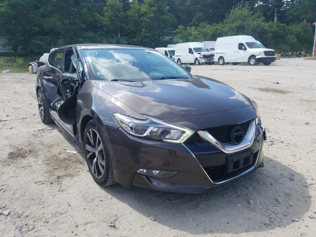 Salvage cars for sale from Copart Mendon, MA: 2016 Nissan Maxima 3.5