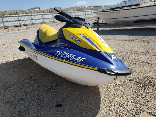 Salvage cars for sale from Copart Wilmer, TX: 2006 Seadoo GTI SE