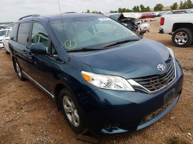 Salvage cars for sale from Copart Bridgeton, MO: 2012 Toyota Sienna LE
