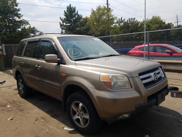 Honda Pilot EX salvage cars for sale: 2008 Honda Pilot EX