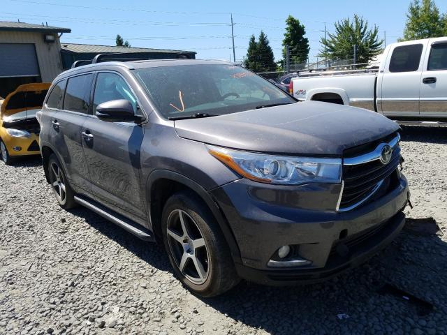 Salvage cars for sale from Copart Eugene, OR: 2016 Toyota Highlander