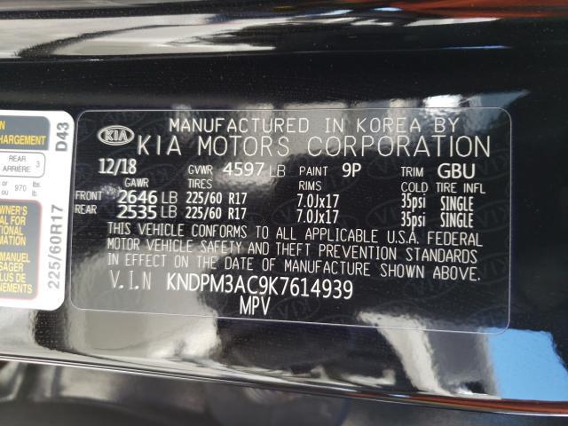 2019 KIA SPORTAGE LX KNDPM3AC9K7614939