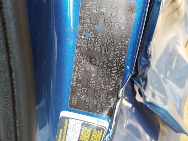 KNAFX4A80E5103489 2014 KIA FORTE EX
