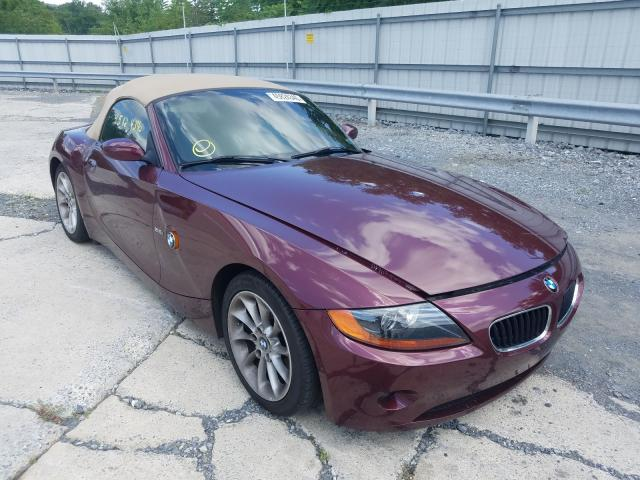 BMW Z4 2.5 salvage cars for sale: 2004 BMW Z4 2.5