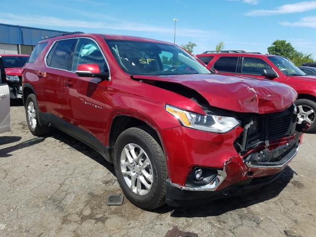 Salvage cars for sale from Copart Woodhaven, MI: 2019 Chevrolet Traverse L