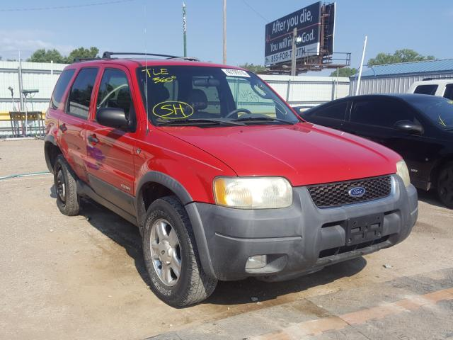 Ford Escape XLT salvage cars for sale: 2002 Ford Escape XLT