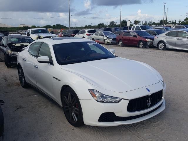 Maserati Ghibli LUX salvage cars for sale: 2017 Maserati Ghibli LUX