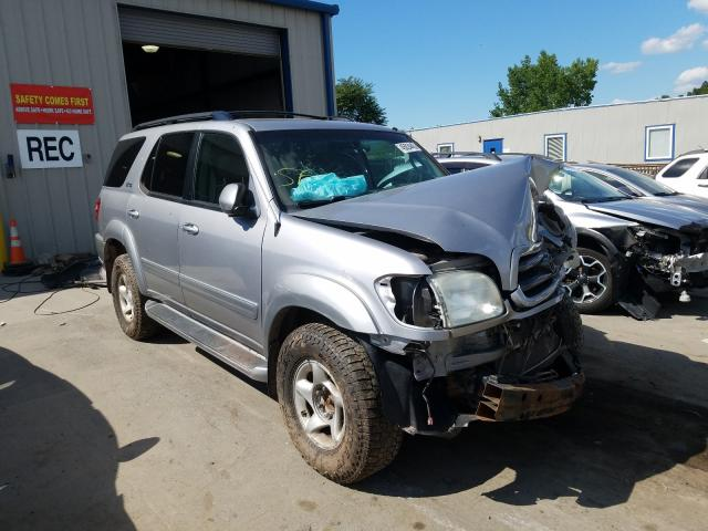 Salvage cars for sale from Copart Duryea, PA: 2002 Toyota Sequoia SR