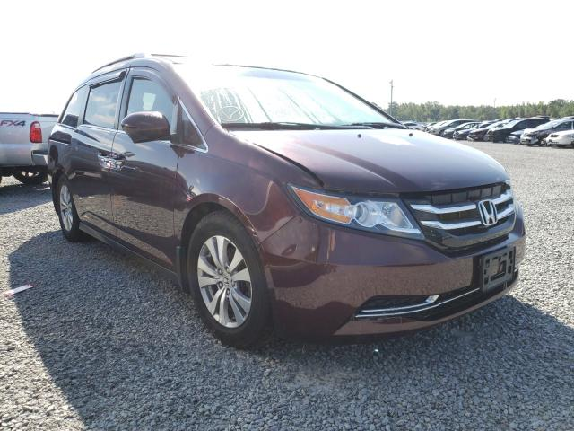 Salvage cars for sale at Lumberton, NC auction: 2014 Honda Odyssey EX