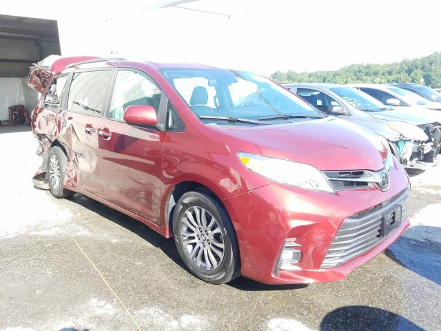 Salvage cars for sale from Copart Savannah, GA: 2019 Toyota Sienna XLE