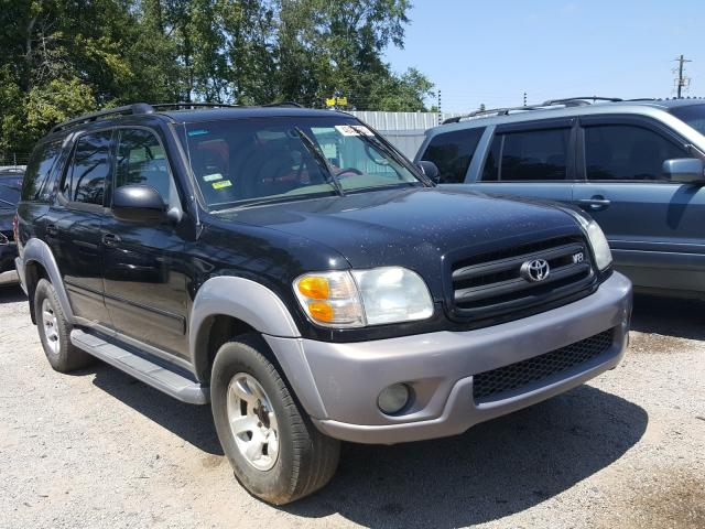 Salvage cars for sale from Copart Harleyville, SC: 2002 Toyota Sequoia SR