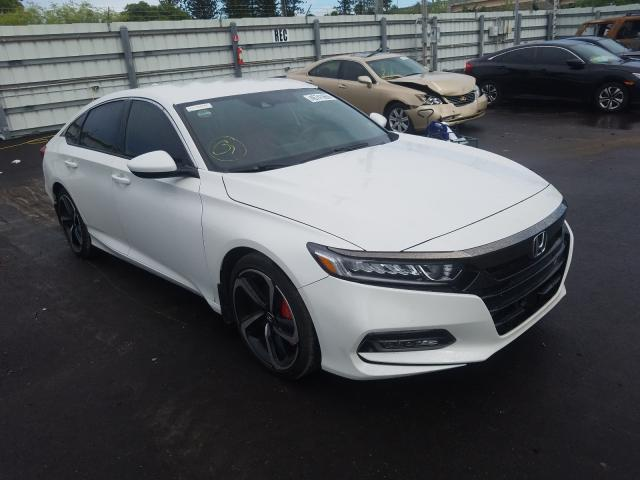 Salvage cars for sale at Miami, FL auction: 2018 Honda Accord Sport