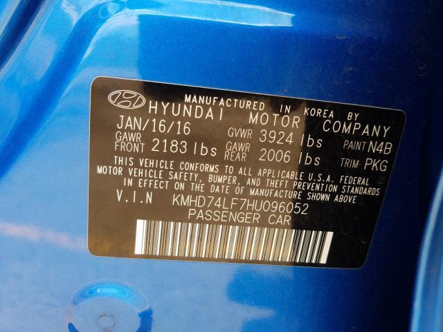 2017 Hyundai ELANTRA | Vin: KMHD74LF7HU096052