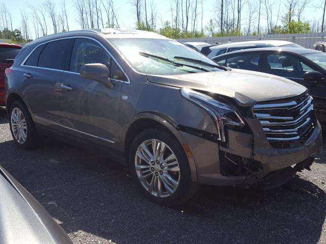 Salvage cars for sale from Copart Angola, NY: 2019 Cadillac XT5 Premium