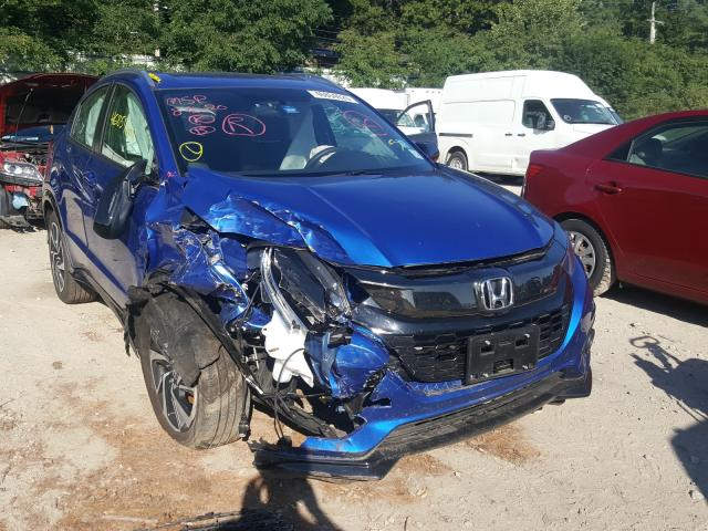 Salvage cars for sale from Copart Mendon, MA: 2019 Honda HR-V Sport