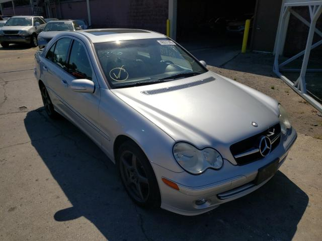 Salvage cars for sale from Copart Wheeling, IL: 2005 Mercedes-Benz C 240