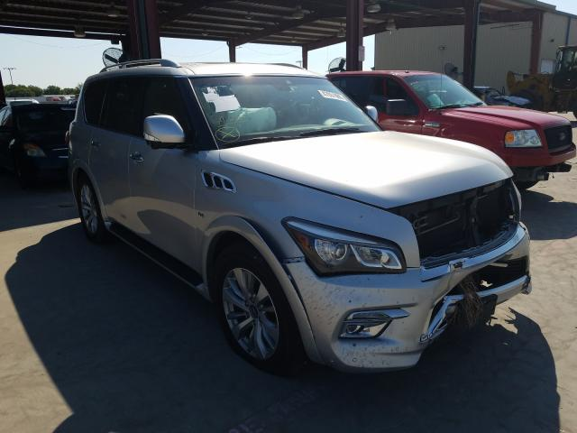 Salvage cars for sale from Copart Wilmer, TX: 2017 Infiniti QX80 Base