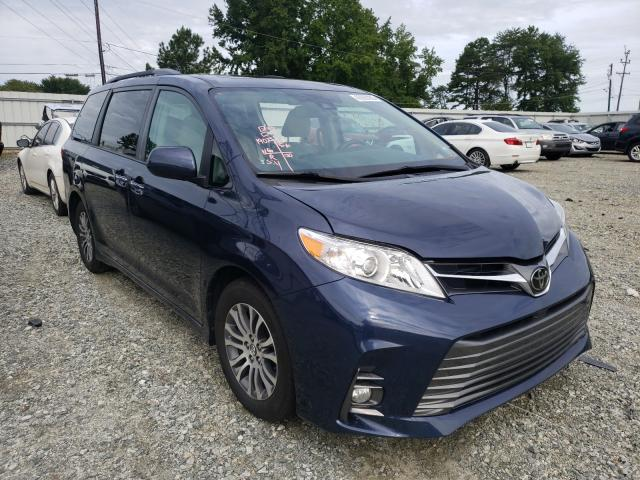 Salvage cars for sale at Mebane, NC auction: 2018 Toyota Sienna XLE