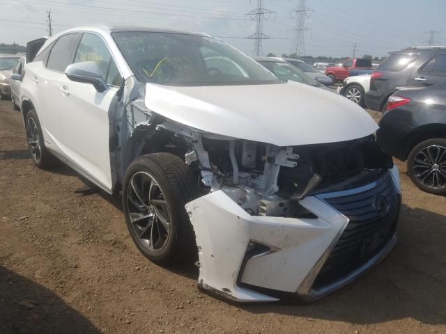 Salvage cars for sale from Copart Elgin, IL: 2019 Lexus RX 450H BA