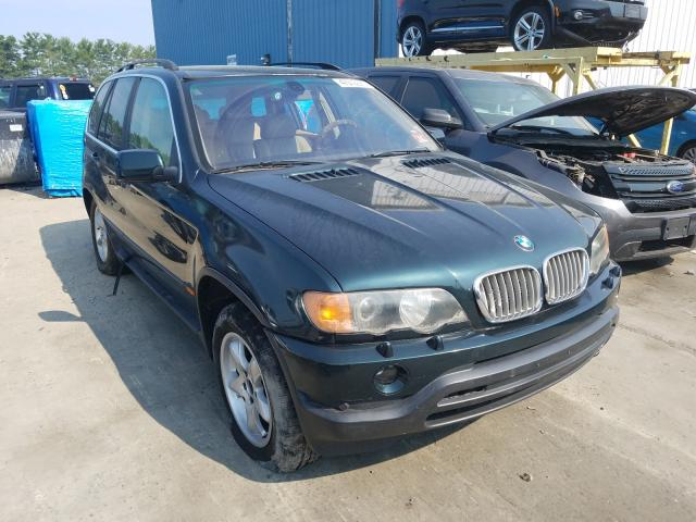 Salvage cars for sale from Copart Windsor, NJ: 2002 BMW X5 4.4I