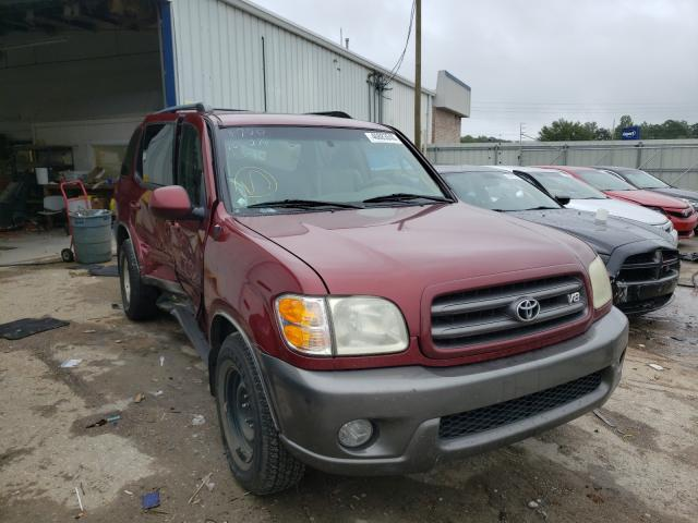 Toyota Sequoia SR salvage cars for sale: 2004 Toyota Sequoia SR