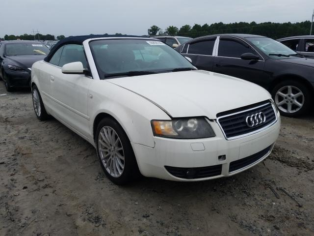 Salvage cars for sale from Copart Loganville, GA: 2003 Audi A4 3.0 Cab